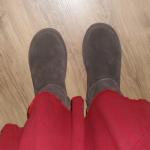 hedgehog sheepskin boots