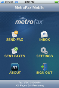 Metrofax mobile faxing app