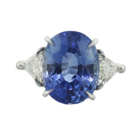 Ceylon Sapphire and diamond ring, sapphire and diamond ring, palm beach show sapphire ring