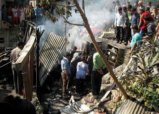 Fire gutted a house at Shantinagar, Singtam
