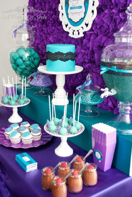 Purple And Teal 30th Birthday By A Touch Of Style Events