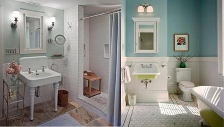 retro bathrooms vintage curved basin cast iron bath - Retro Bathrooms