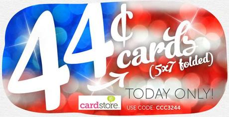 President's Day Sale! 44¢ Folded Cards at Cardstore! Valid 2/18/13 Only, Use Code: CCC3244, Shop Now!