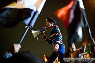 Protest in front of Presidential Palace, February15, 2013...