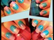 Blue Pink Ombre Nails!