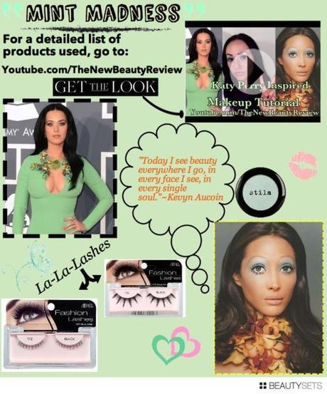 Beautysets - Katy Perry Inspired Makeup-Mint Green