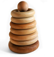 Toy Tuesday: Organic and Wooden Stacking Ring Toys