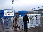 BREAKING: Appalachia Resist Shut Down Blockade Fracking Waste Storage Facility Ohio with Monopod Banner Drops