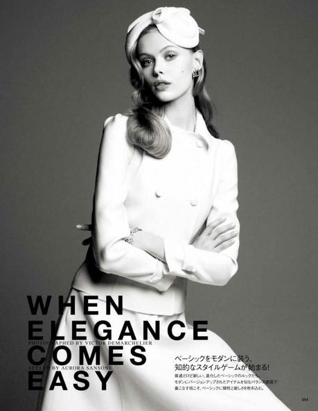 Frida Gustavsson by Victor Demarchelier for Vogue Japan August 2012