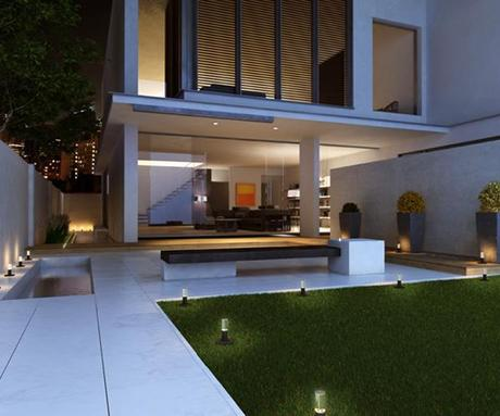 landscape design retractable solar lamps Improving your Landscape Design with Solar Lights that Pop Up! HomeSpirations