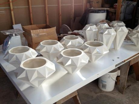 Freshly Made Aspect Pendant Lights from the Oakland-based Ceramicists for Schmitt Design