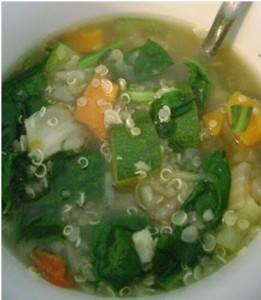 Weight Loss Recipe: Quinoa Spinach Soup