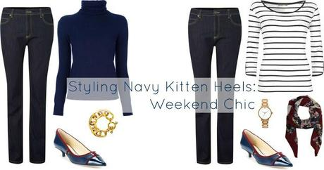 Ask Allie: Styling Navy and Oxblood Kitten Heels