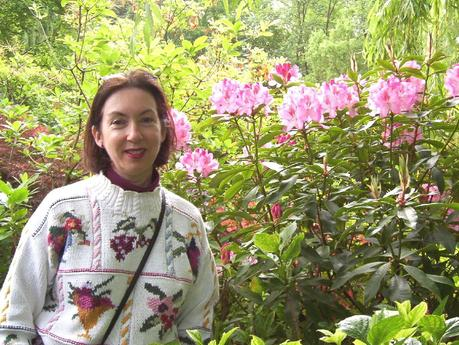 Claude Monet Water Garden in Giverny - Jean beside Rhododendrons - France