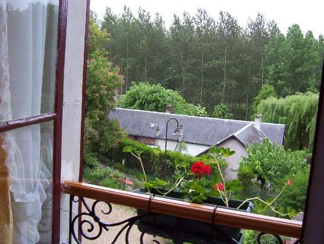 Hotel - Restaurant Creperie La Musardiere - view from our window - Giverny - France
