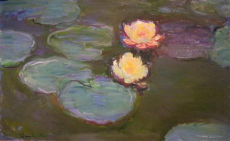 Claude Monet painting - titled - Nympheas - oil on canvas - Los Angles County Museum