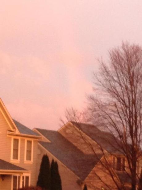 It's very faint, and I used my iPhone and not my Nikon, but it's there—a rainbow.