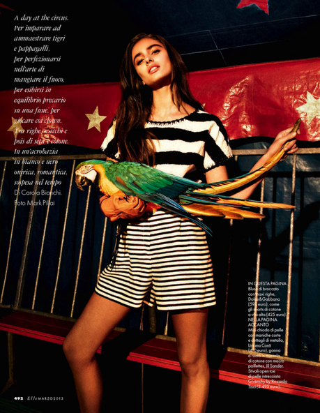 Taylor Marie Hill by Mark Pillai for Elle Italia March 2013