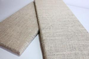 Burlap covered Boards