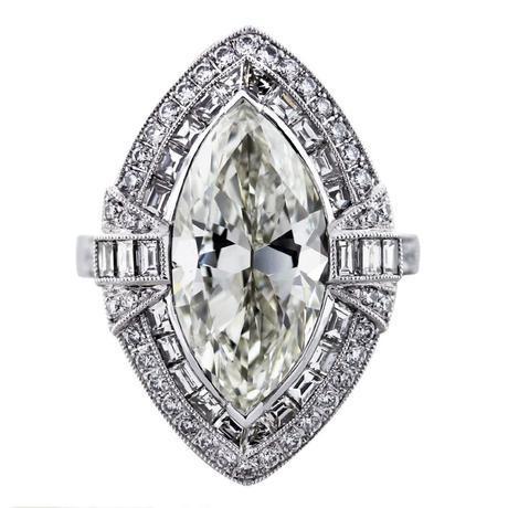 5 carat marquise diamond platinum ring, marquise engagement ring, big diamond ring