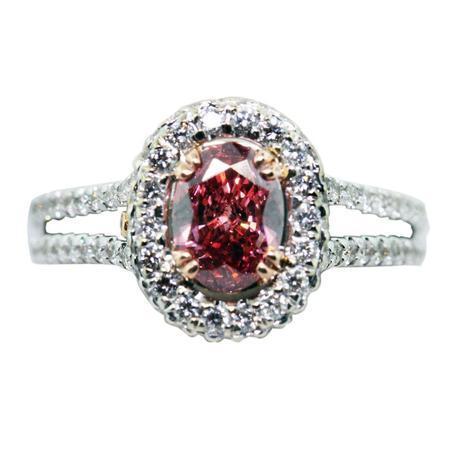 pink diamond engagement ring, pink diamond ring, engagement rings boca raton