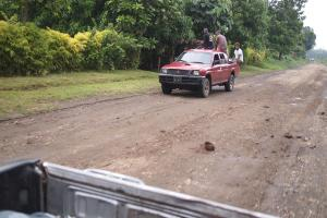 Riding Tanna style! This is one of Tanna's good roads