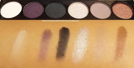 MUA Glamour Nights Palette Swatches
