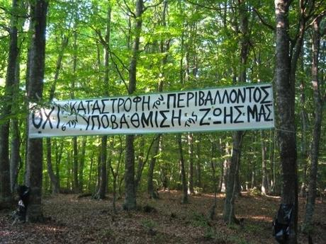 A Gang of Greek Activists Torched the Skouries Gold Mine