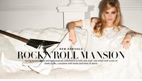 Georgia May Jagger for Rock'n'roll Mansion collection from H&M by Terry Richardson.