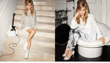 Georgia May Jagger for Rock'n'roll Mansion collection from H&M by Terry Richardson.  2