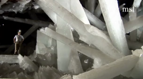 Superman's ice fortress Screenshot from Madrid documentary El Misterio De Los Cristales Gigantes