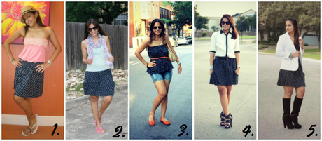 Shopping Ban Link Up + Five Ways To Wear Polka Dot Skirt