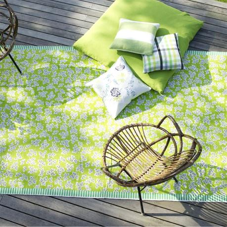 Meadow Leaf Moss Area Rug - Designers Guild