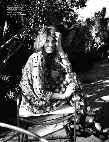 Angela Lindvall by Nicolas Moore for Elle France February 15th, 2013