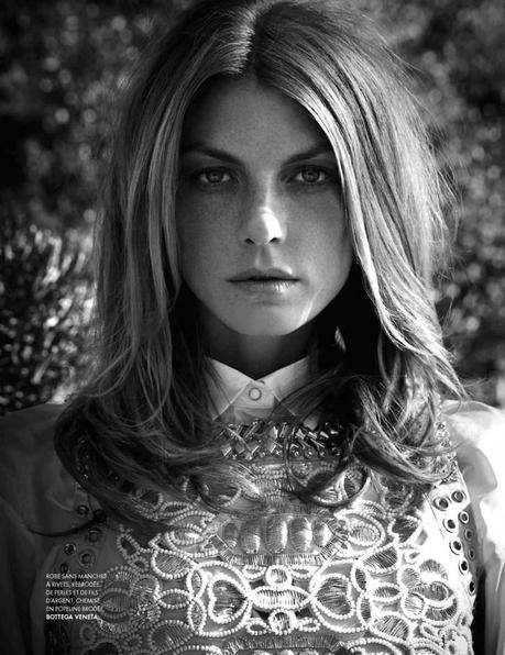Angela Lindvall by Nicolas Moore for Elle France February 15th, 2013 2