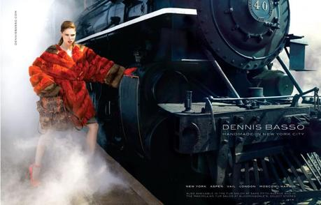 Coco Rocha for Dennis Basso Fall 2013 campaign by Bernard Hunt   3