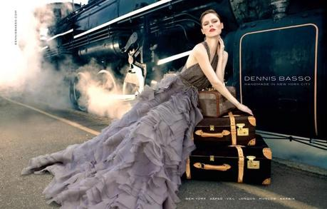 Coco Rocha for Dennis Basso Fall 2013 campaign by Bernard Hunt
