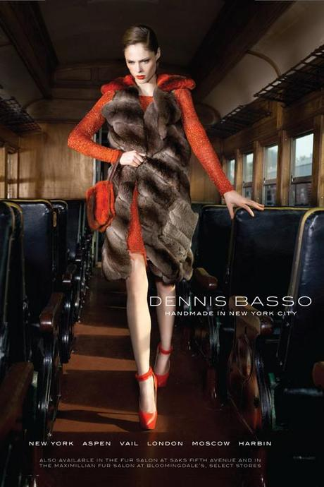 Coco Rocha for Dennis Basso Fall 2013 campaign by Bernard Hunt   4