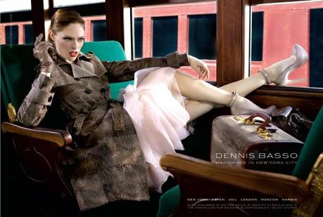 Coco Rocha for Dennis Basso Fall 2013 campaign by Bernard Hunt   2