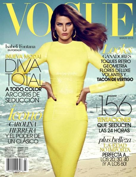 Cover- Isabeli Fontana by Koray Birand for Vogue Mexico March 2013