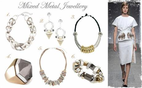 Mixed metal jewellery