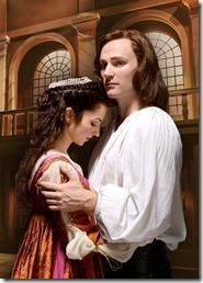 Laura Rook as Juliet and Christopher Allen as Romeo, Chicago Shakespeare Theater