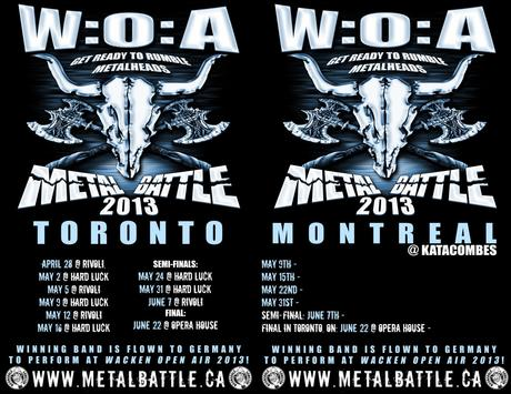 WACKEN METAL BATTLE COMES TO CANADA; ONE CANADIAN BAND TO RULE THEM ALL!