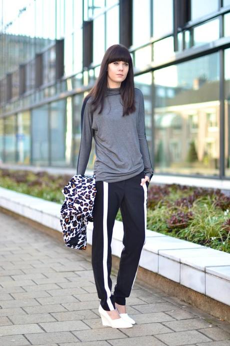 outfit sports luxe trend inspiration look track pants monochrome