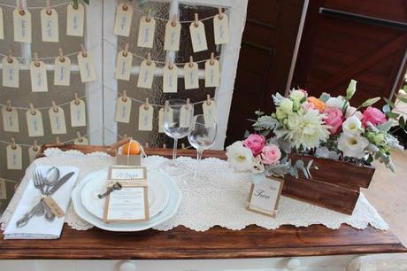 Modern Vintage Wedding Table by Sweet Details