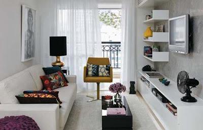 open shelving in narrow room - Narrow Room Design
