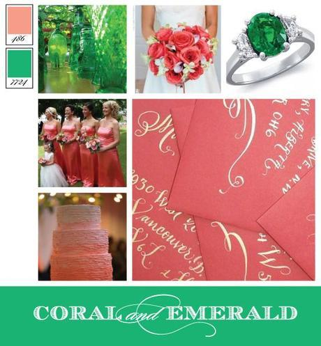 Wedding Color Inspiration: Coral and Emerald