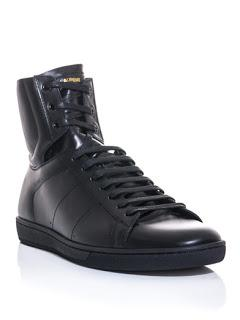 Clean All Day And Night:  Saint Laurent Paris Leather High Top Trainers