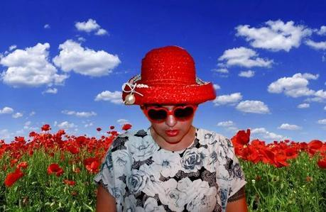 Rosebud in a Red Hat