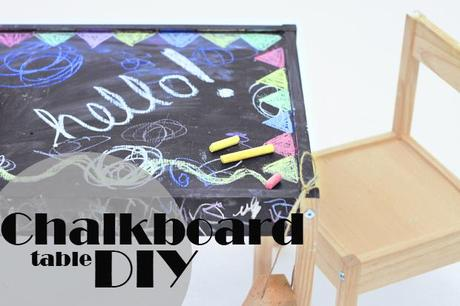 chalkboard table DIY.of course. chalkboard paint is nearl...
